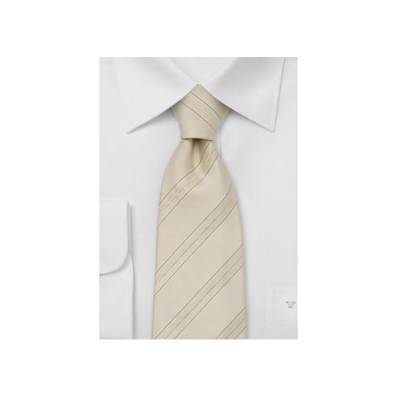 Elegant Cream colored Silk Tie