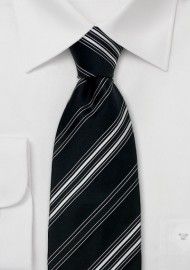 Laco silktie black/white