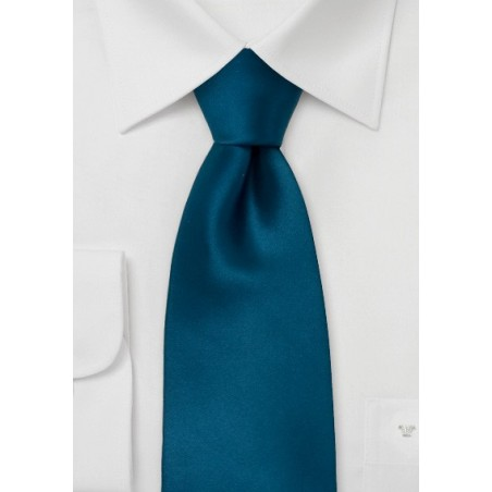 Retro skinny tie - Narrow silk tie in solid blue