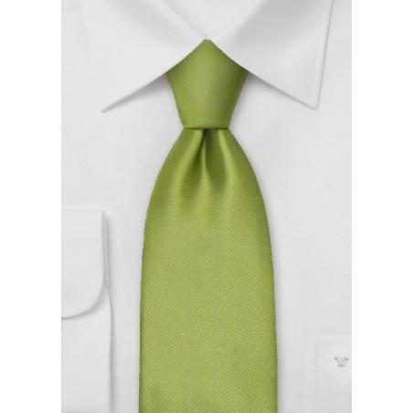 Extra Long Necktie - Sage green silk tie