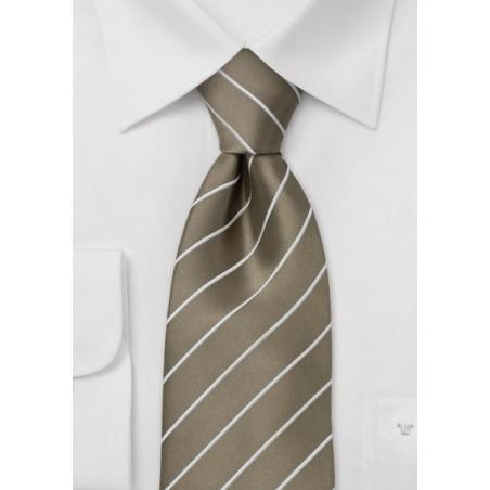 Elegant Business Tie -  Golden-Brown Color