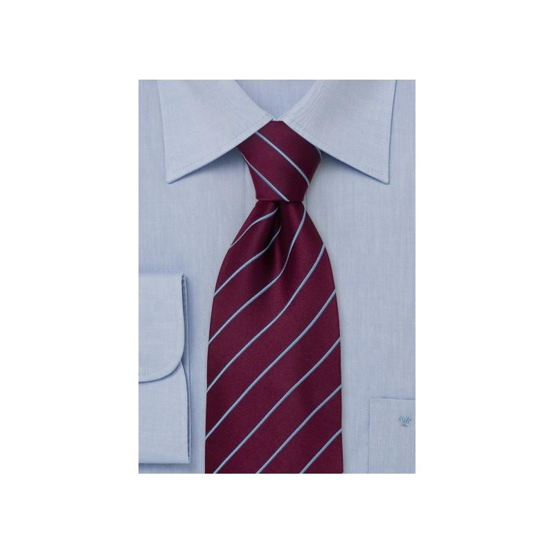 Elegant Business Tie -  Burgundy/ Purple