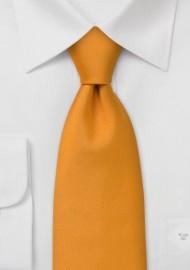 Extra Long Necktie -  Safari Orange