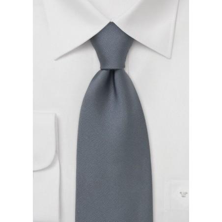 Single colored silk tie Silver gray necktie