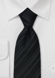 Black Tie with fine stripes