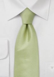 Sage Green Silk Tie  -  Light green tie with fine pattern