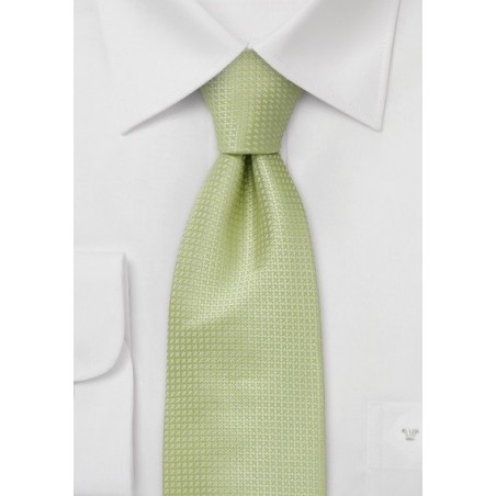 Sage Green Silk Tie  -  Light green tie with fine pattern