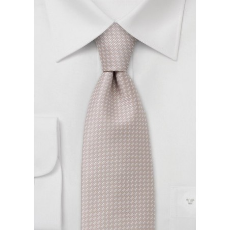 Peach orange necktie  -  Peach colored tie with fine pattern