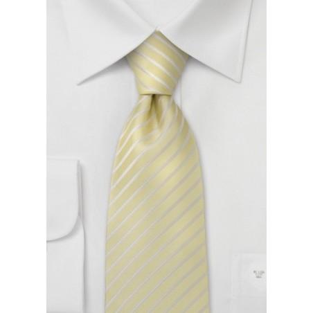 Lavender Yellow Striped Tie - Handmade silk tie from Parsley luxury neckwear