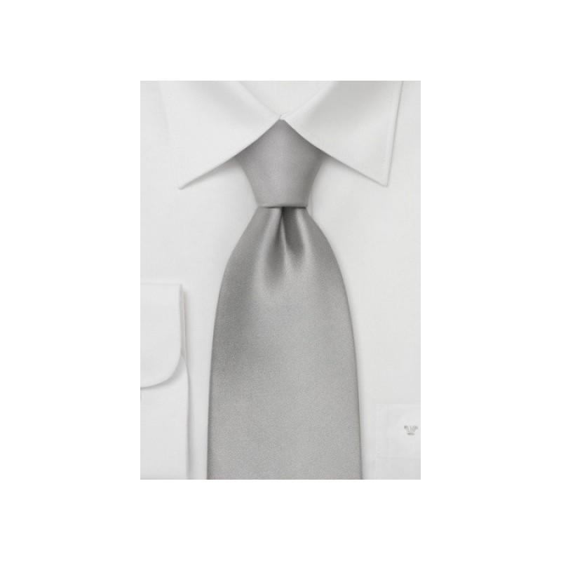 Silver necktie - Solid color silver tie