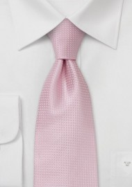 Pink Extra Long Ties - Light Pink Necktie in XL