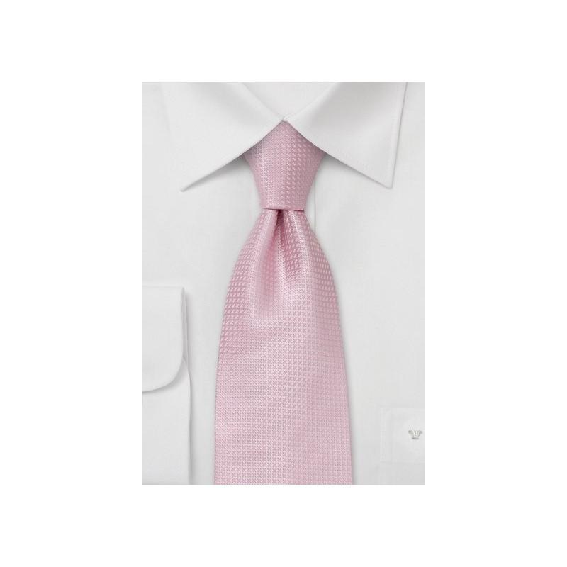 Pink Extra Long Ties - Light Pink Necktie in XL