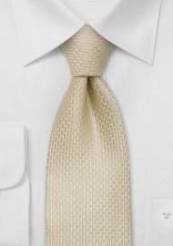Wedding silk ties - Champagne colored wedding necktie