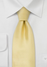 Silk neckties - Light yellow silk tie