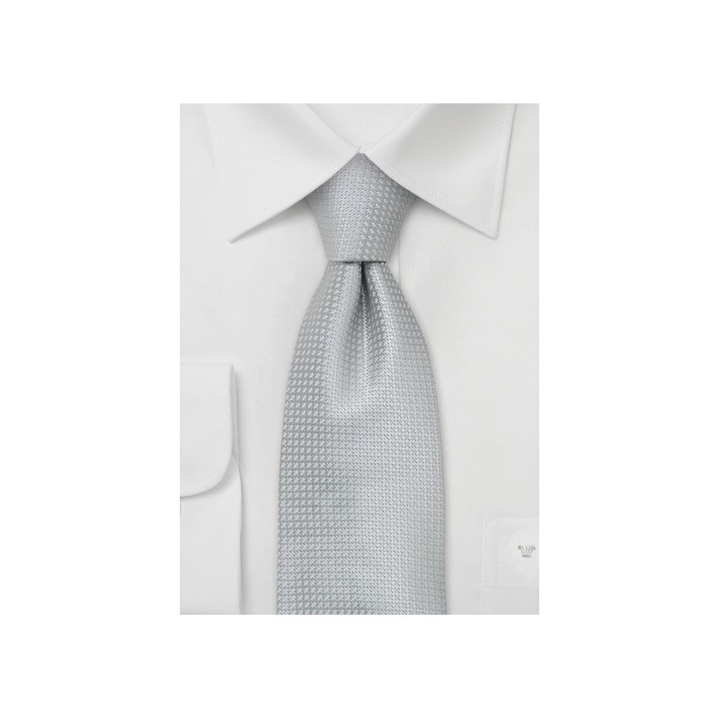 Silk Neckties -  Elegant Silver Colored Silk Tie