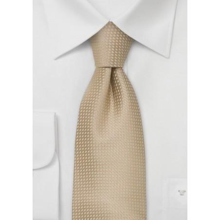 Silk neckties - Light beige colored silk tie
