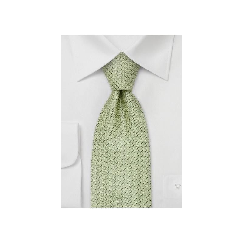 Brand name neckties - Light green silk tie by Chevalier