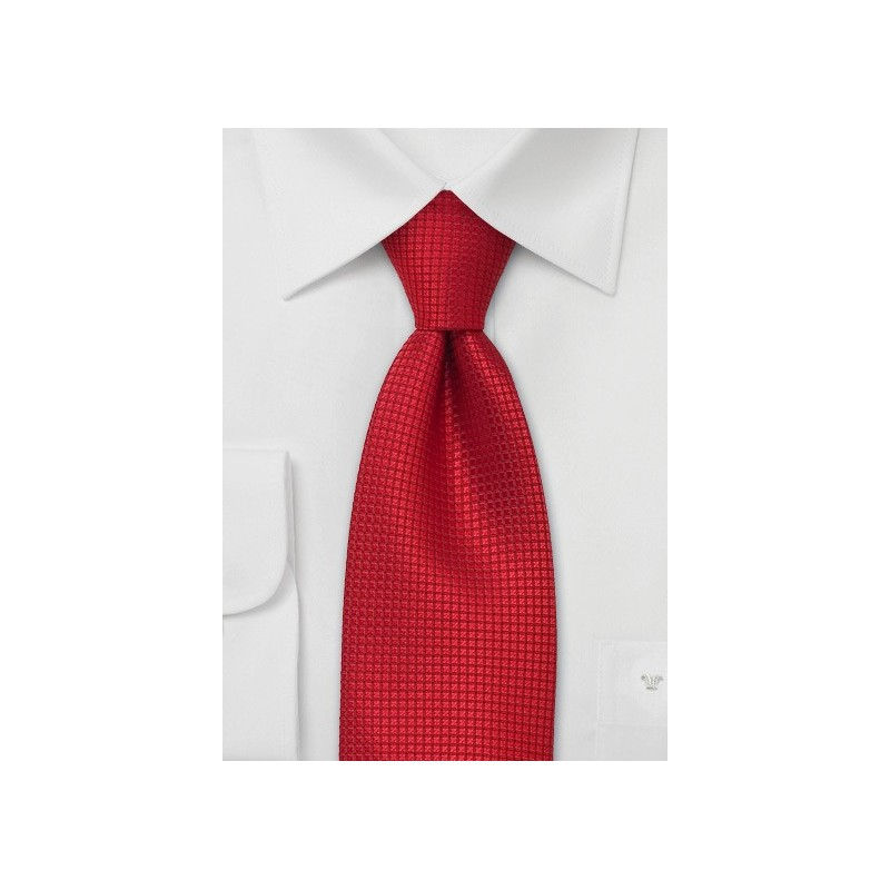 Mens XL Necktie in Bright Red
