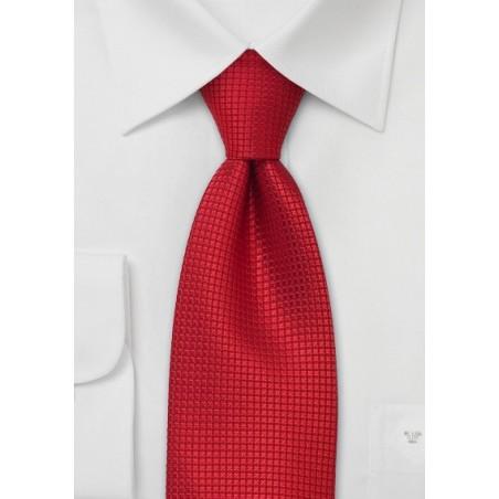 Mens XL Necktie in Bright Red