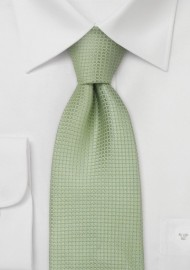 Extra Long Ties - Light apple green XL necktie