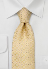 Extra long ties - Yellow floral tie by Chevalier