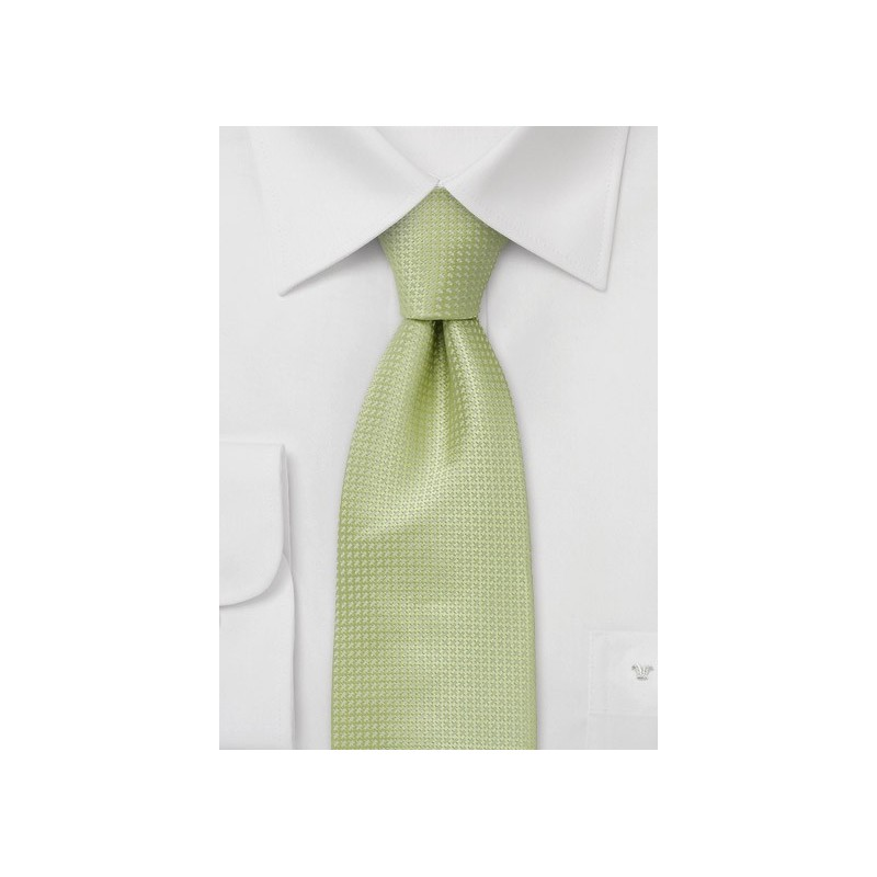 Green Extra Long Ties - Light Green Silk Tie in XL