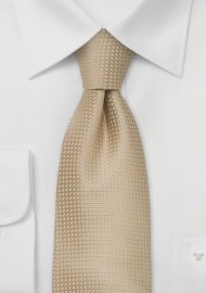 Extra Long Ties - XL silk tie in light cream-tan color