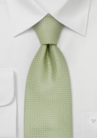 XL designer ties - Light green silk tie by Chevalier