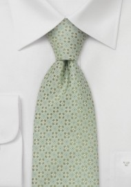 Extra Long Ties - Light green necktie by Chevalier