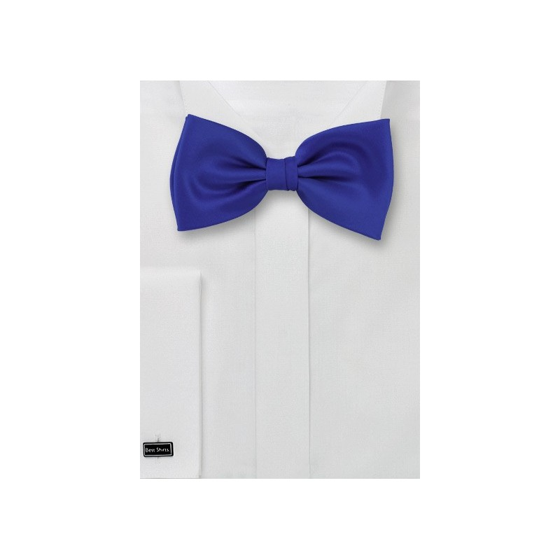 Bow ties -  Solid color bow tie in Royal blue color