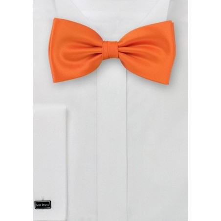 Orange bow tie  -  Solid color bow tie in orange color