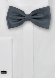 Dark gray bow tie  -  Solid color bow tie in dark gray