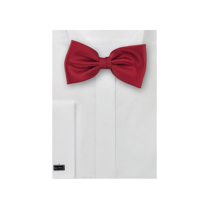 Bow ties  - Solid color bow tie in Cherry red