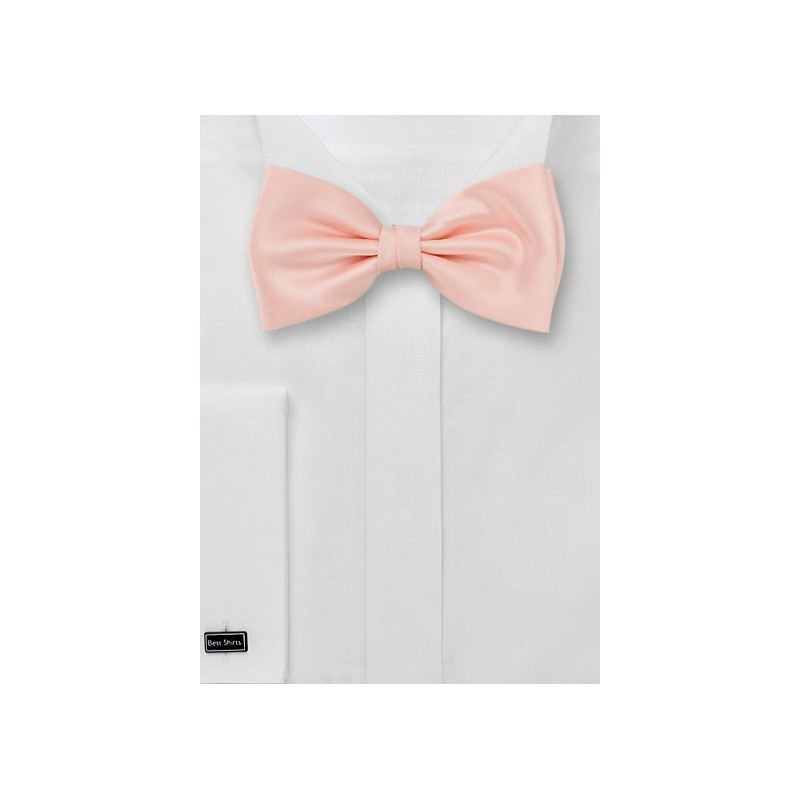 Bow ties - Solid color bow tie in peach pink