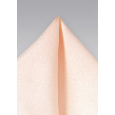 Peach pink pocket square - Solid peach colored hankie