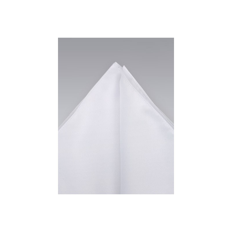 White pocket square -  Classic bright white hankie