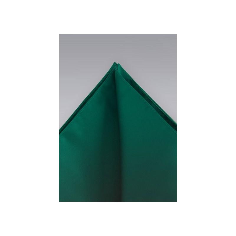 Pocket squares -  Dark green hankie