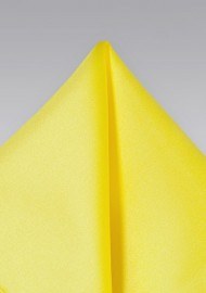 Pocket Squares - Bright yellow hankie