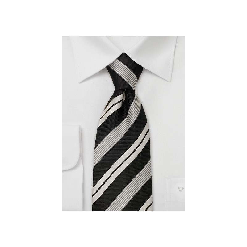 Striped neckties - Modern black necktie