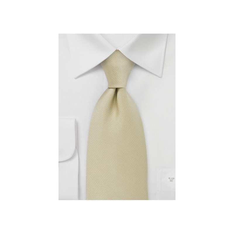 XL Mens Tie in Champagne Color