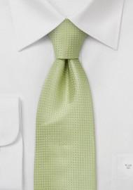 Light Lime Green Silk Tie for Kids