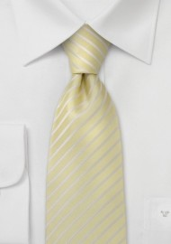XL Length Ties in Vanilla Yellow
