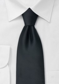 Extra long black tie - Formal XL necktie in black