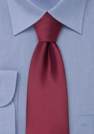 Solid color ties - Solid burgundy red tie