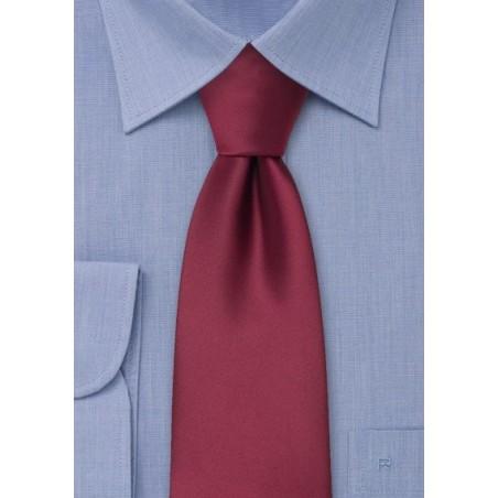 Extra Long Ties - Burgundy red XL necktie
