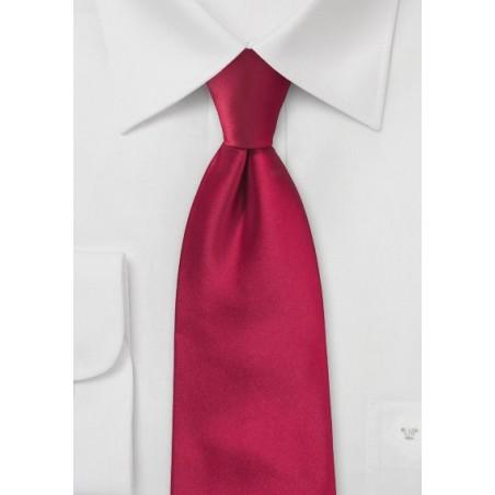 Extra long ties - Bright red XL necktie