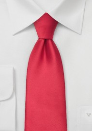 Solid color mens ties - Bright red men's necktie