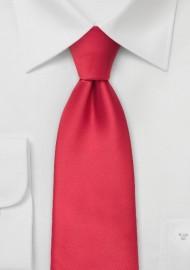 Solid color mens ties - Bright red men's necktie
