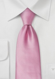 Pink men's ties - Solid color pink tie