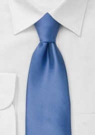 Clip-on ties - Solid blue clip on tie